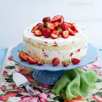 Luftige Erdbeer-Joghurt-Torte