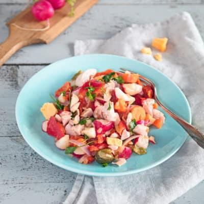 Käse-Wurst-Salat – deftig und Low Carb