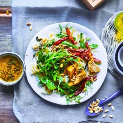 Mediterraner Nudelsalat wie aus Italien
