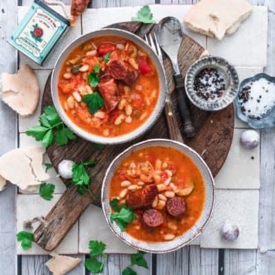 Tomaten-Bohnen-Eintopf mit Chorizo