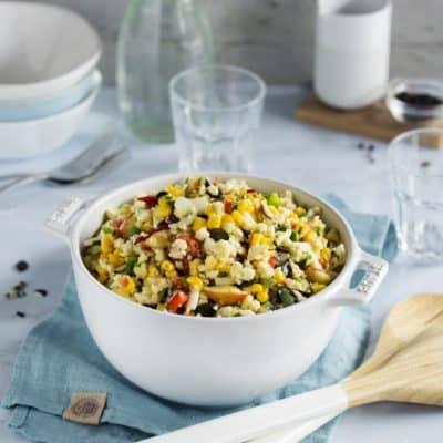 Bunter Blumenkohlsalat – roh schmeckt er noch besser!