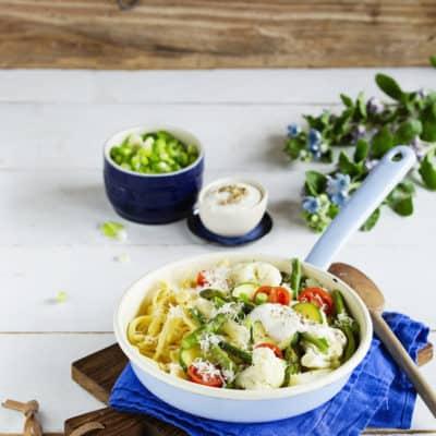 Spätzle-Pfanne mit Gemüse