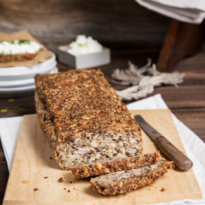 Veganes Körnerbrot ohne Hefe backen