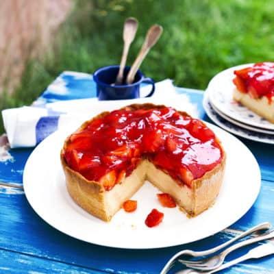 Erdbeer-Käsekuchen noch besser als das Original