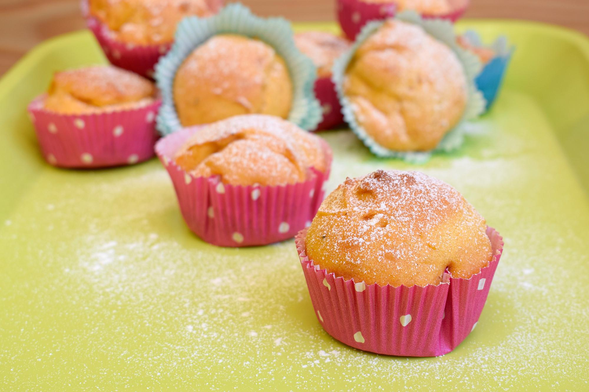 Muffins ohne Ei und Milch, aber richtig saftig dank Öl