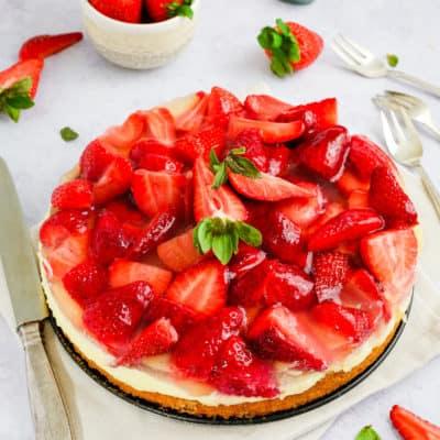 Omas Erdbeerkuchen mit Pudding