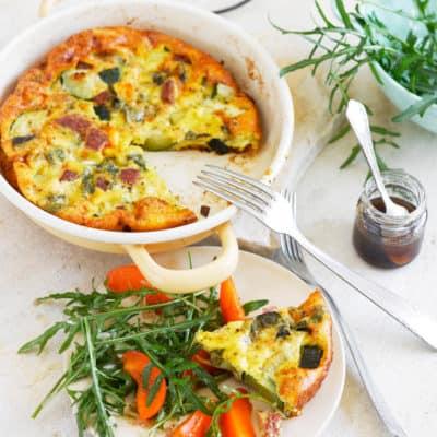 Schnelle Frittata mit Zucchini aus dem Ofen
