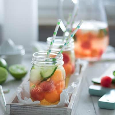 Erfrischende Melonenbowle ohne Alkohol